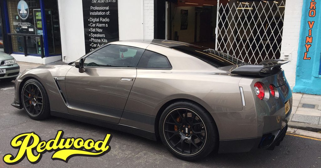 tinted windows aka privacy glass on nissan gtr in bristol by redwood